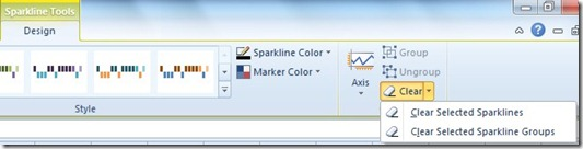 Clear Selected Sparklines