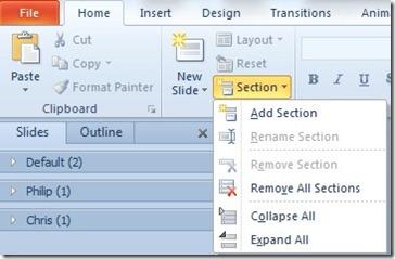 Insert Section Breaks in PowerPoint (1/5)