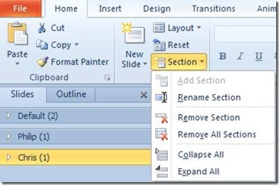Insert Section Breaks in PowerPoint (5/5)
