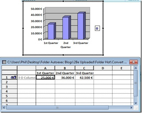 How To Create A Chart In Word From Your Data That Is In A Table (5/6)