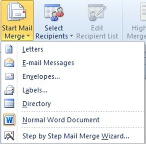 How to use the mail merge step by step wizard officesmart 01 spiritdancerdesigns Gallery