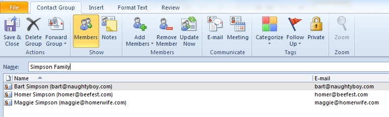 how to set up a group in outlook