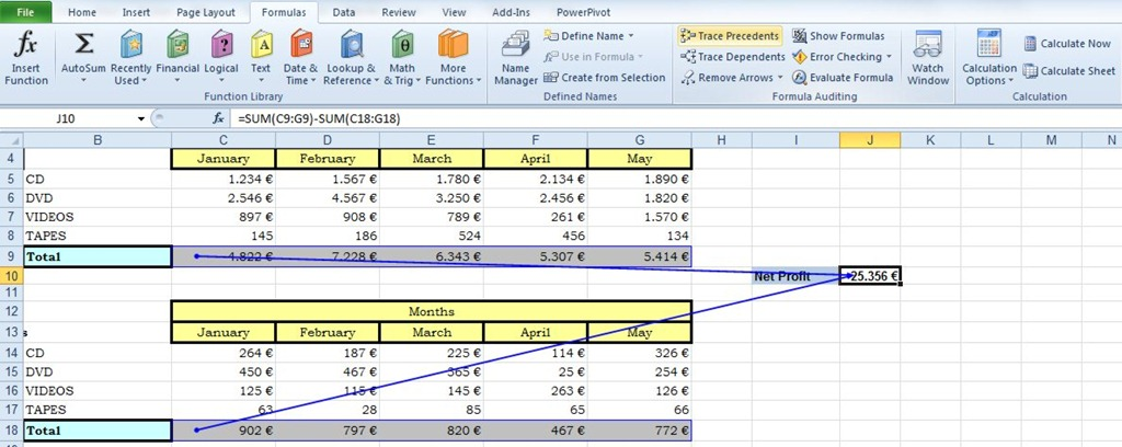 Trace Precedents and Dependents in Excel | officesmart