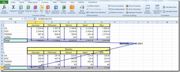 Trace Precedents and Dependents in Excel (3/5)