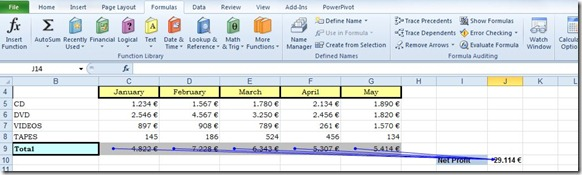 Trace Precedents and Dependents in Excel (4/5)