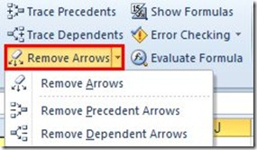Trace Precedents and Dependents in Excel (5/5)