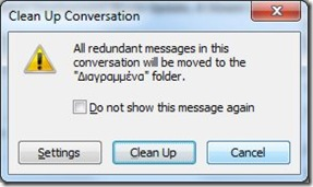 Clean Up Conversation Warning