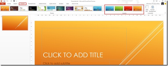 Variant Themes in PowerPoint 13 (4/4)