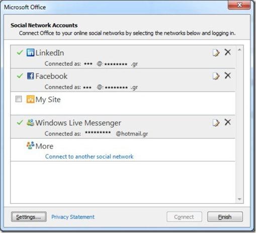 Social Network Accounts