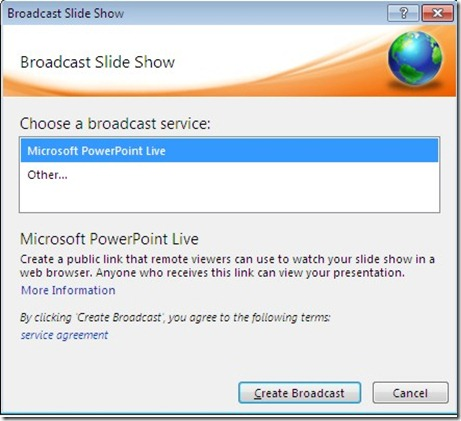 Choose A Broadcast Service