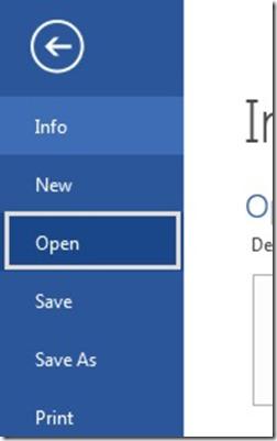 File - Open