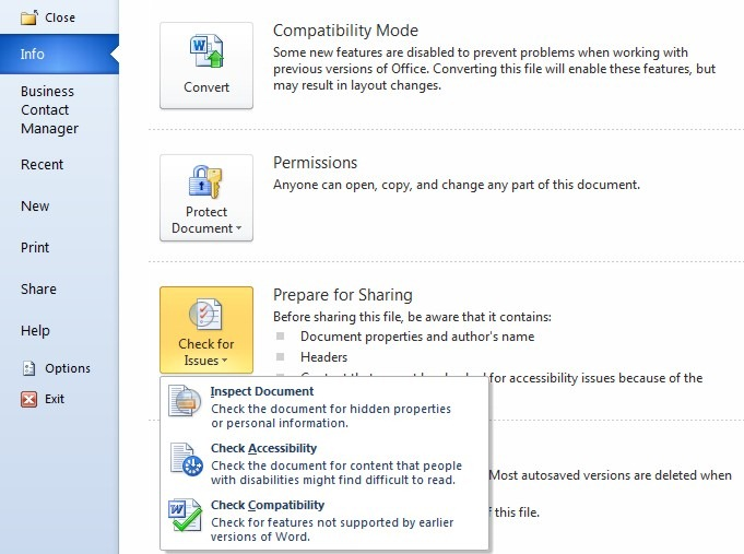 how to change the compatibility mode in word