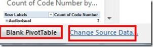 Blank PivotTable - Change Source Data