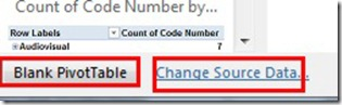 Blank PivotTable - Change Source Data