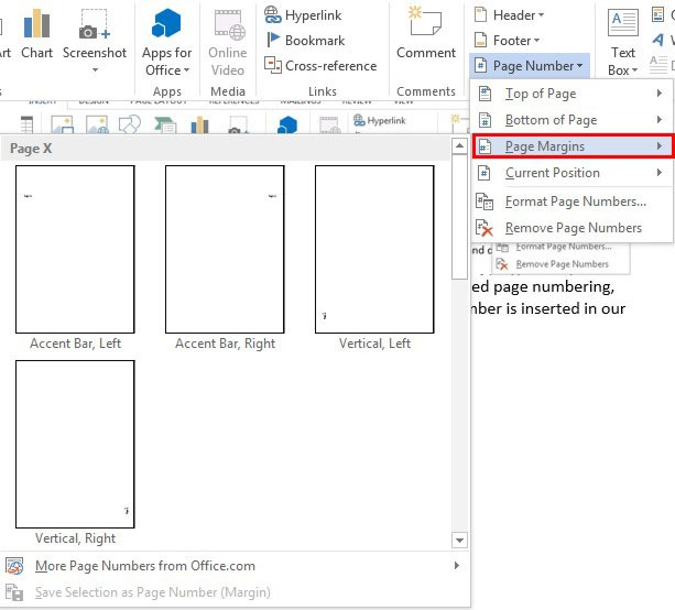 Inserting page numbers in word 13 officesmart as shown in the image below the predefined numbering gallery does not offer us so many choices to select from ccuart Image collections