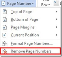Remove Page Numbers
