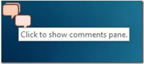 Show Comments Pane