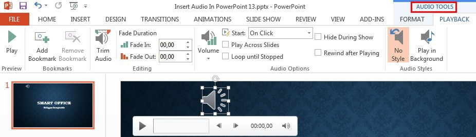 how to get audio in powerpoint