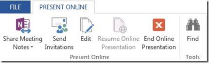 Present Online Tab