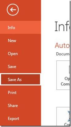 File - Save As