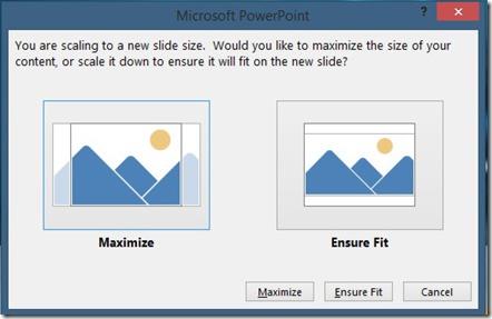 Microsoft PowerPoint Dialog Box