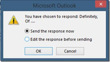 Microsoft Outlook Dialog Box