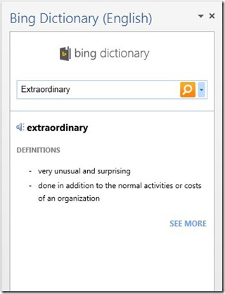 Bing Dictionary
