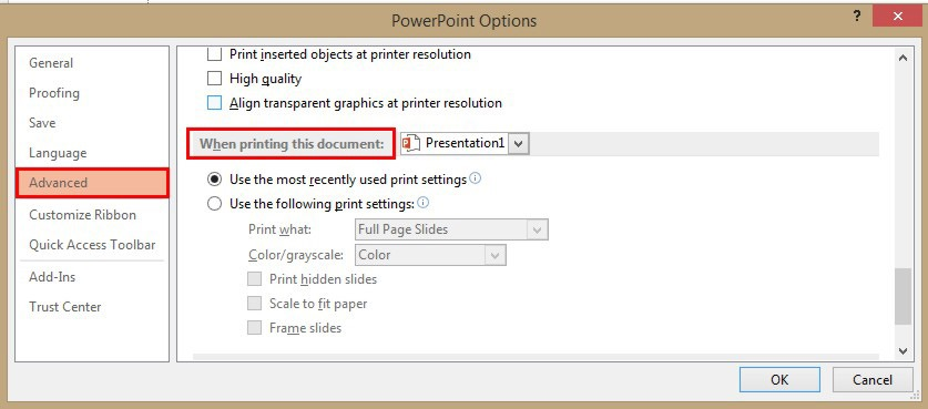 How To Change The Print Settings In PowerPoint 13
