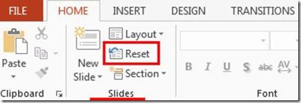 Slides - Reset