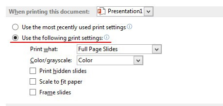 how to change printer setting on word