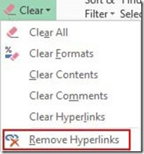 Remove Hyperlinks