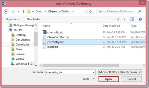 Add Custom Dictionary