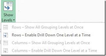 Show Levels
