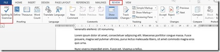 Enable Readability Statistics in Word 13 (2/4)