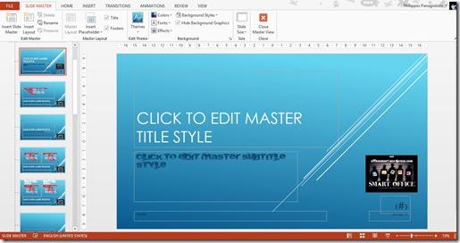 Slide Master Thumbnail