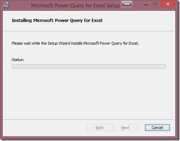 Installing Power Query