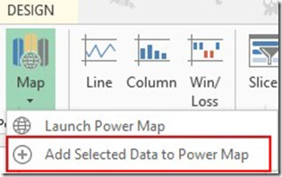 Add Selected Data To Power Map