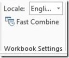 Workbook Settings
