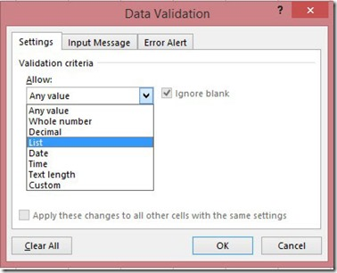 Validation Criteria