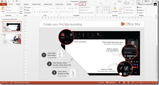 Office Mix Screen