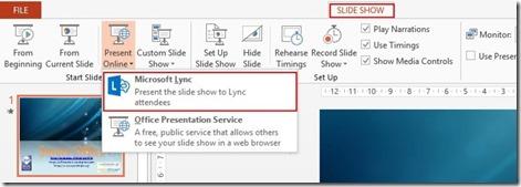 Slide Show - Microsoft Lync