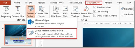 Slide Show - Present Online