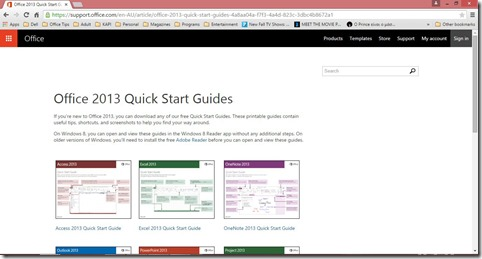 Microsoft Office 2013 Quick Start Guides