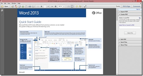 Downloaded Word 2013 Quick Start Guide