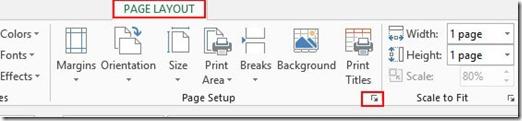 Page Layout - Page Setup