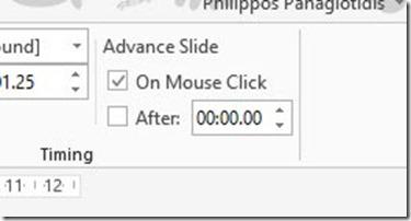 Timing - Advance Slide