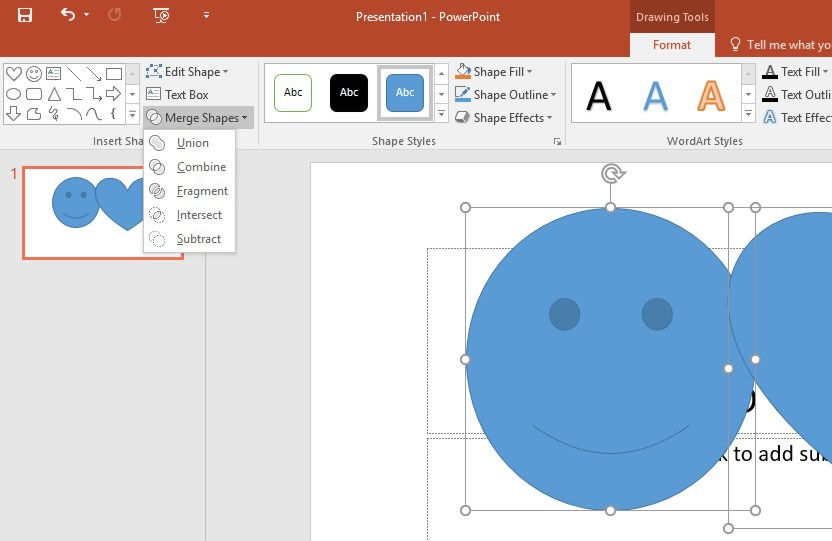 Combine Shapes in PowerPoint 2016 | officesmart