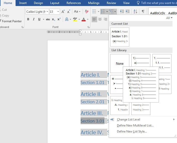 How To Create A Multilevel List In A Word Document Officesmart