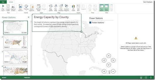 Power Map Tab