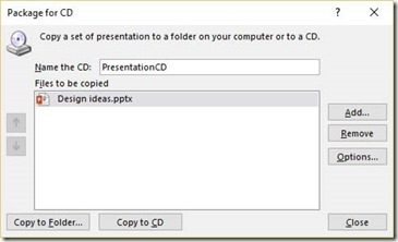 Package Presentation For CD